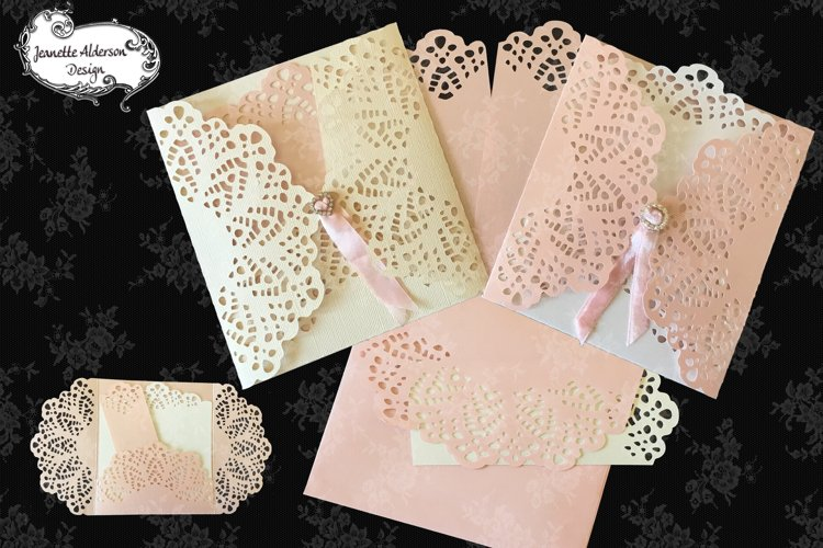 Lacey Gatefold Card 10 greeting card cutting file example image 1