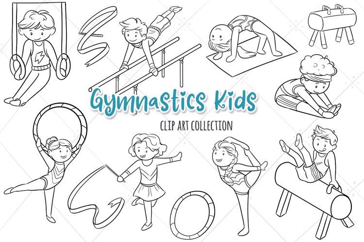 Gymnastics Kids Digital Stamps example image 1