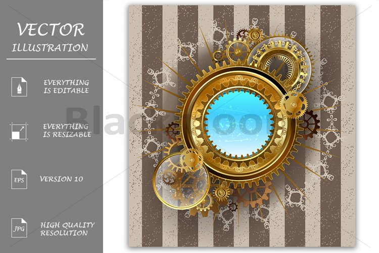 Round Steampunk Banner example image 1
