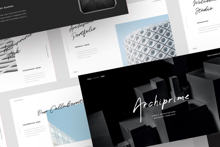 Archiprime - Simple Business PowerPoint Template example image 1