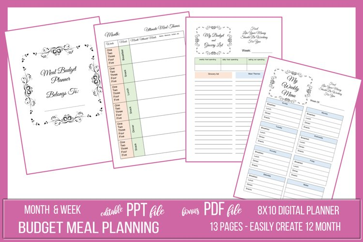 Budget Friendly Meal Planner Package example image 1