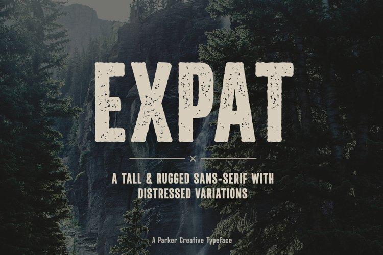 Tall Rugged Font | Expat
