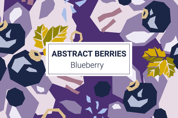 Blueberry paper cut style patterns example image 1