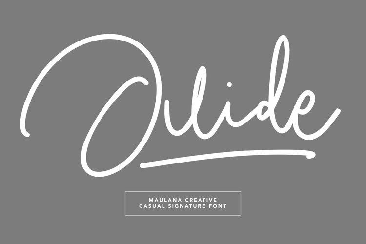Juide Casual Signature Font example image 1
