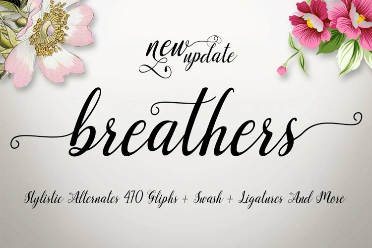 Web Font Breathers Script example image 1