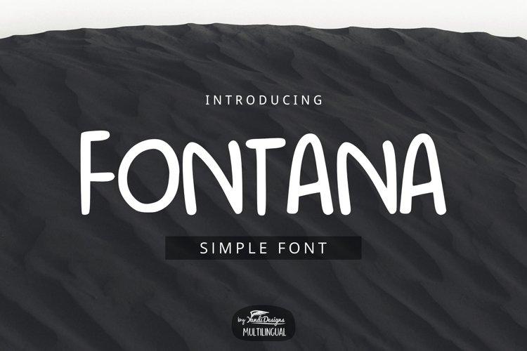 Fontana Font example image 1