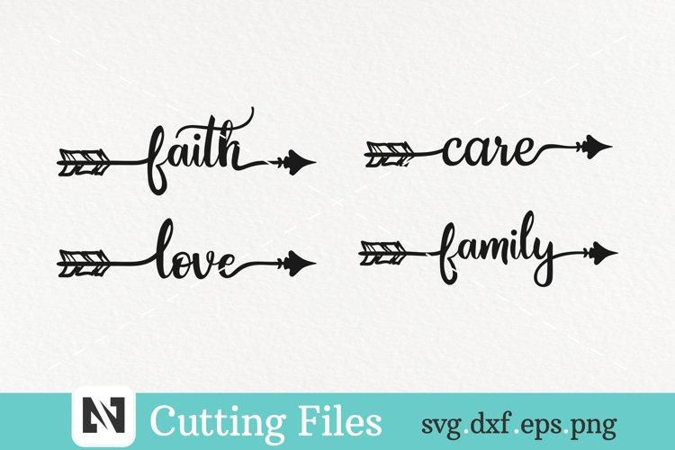 arrow svg, arrow svg file, love svg, faith svg, family svg example image 1