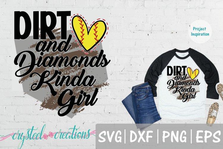 Dirt and Diamonds Kinda Girl SVG, DXF, PNG, EPS example image 1
