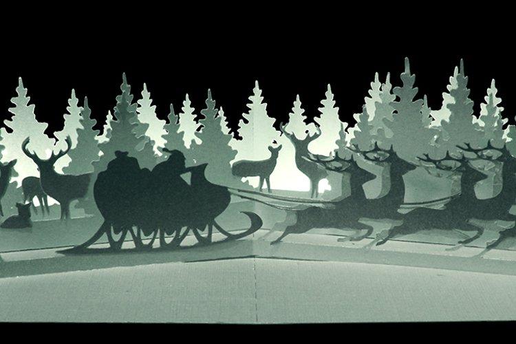 Winter wonderland pop up card example image 1