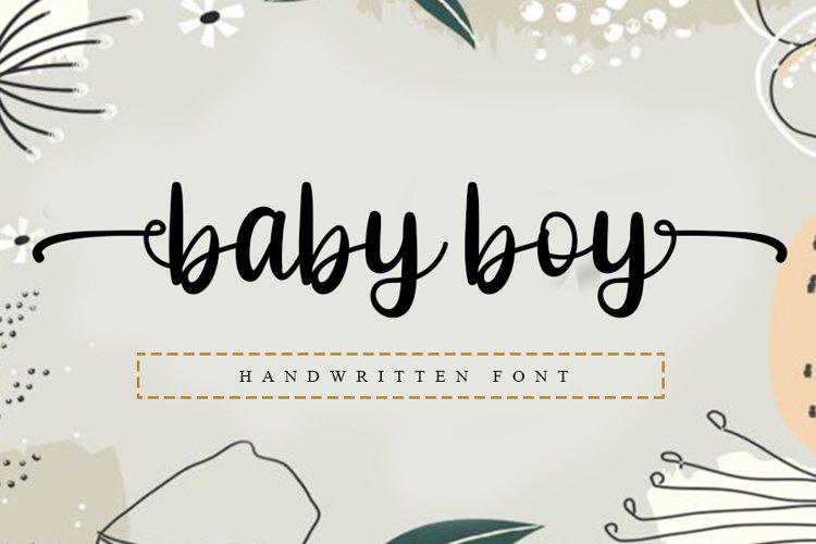 Baby Boy - Beautiful Handwritten Font example image 1