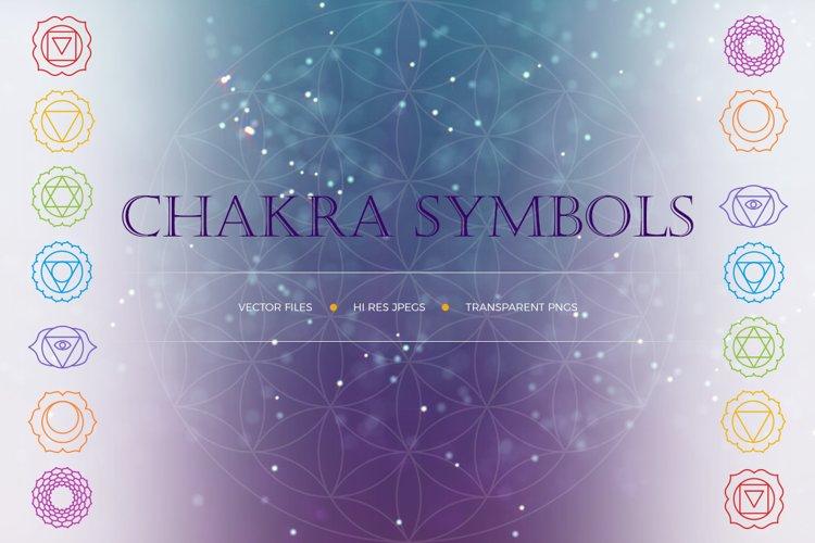 Chakra Symbols and Patterns Vector
