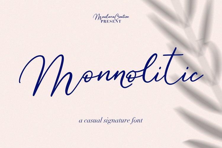 Monnolitic Casual Signature Font example image 1