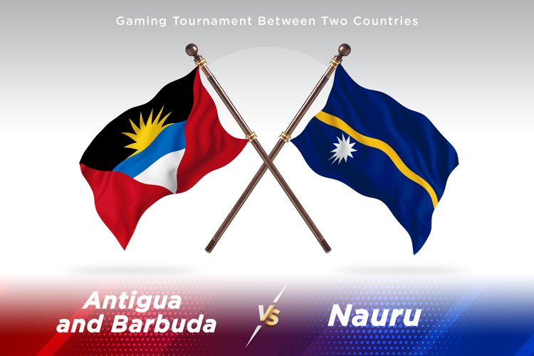 Antigua vs Nauru Two Flags example image 1