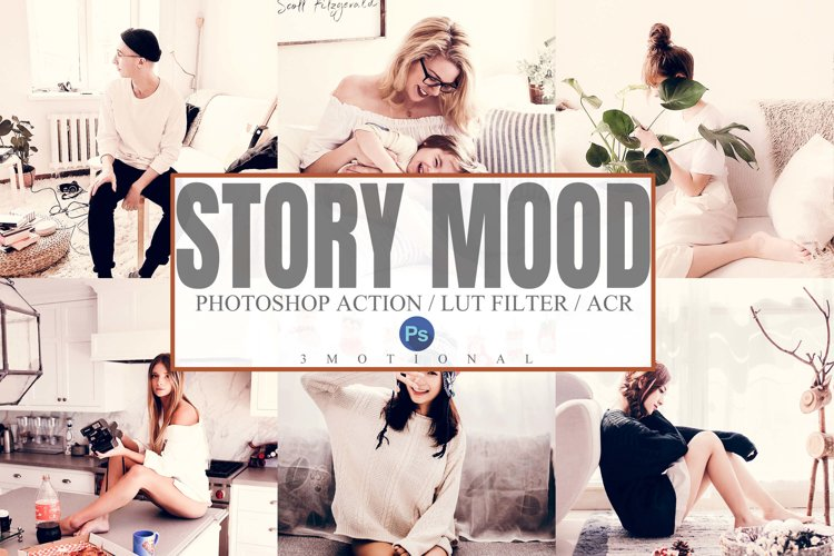 5 Story Mood Photoshop Actions, ACR, LUT Presets example image 1