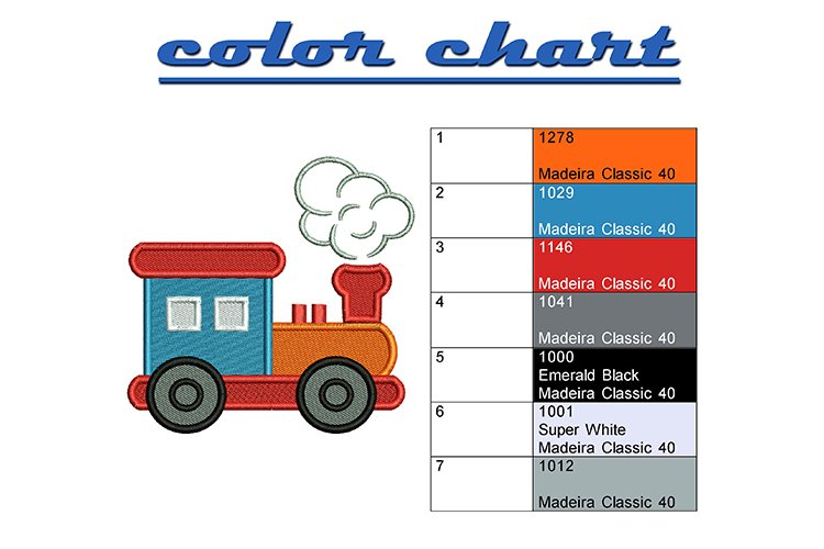 Funny train machine embroidery designs example 1