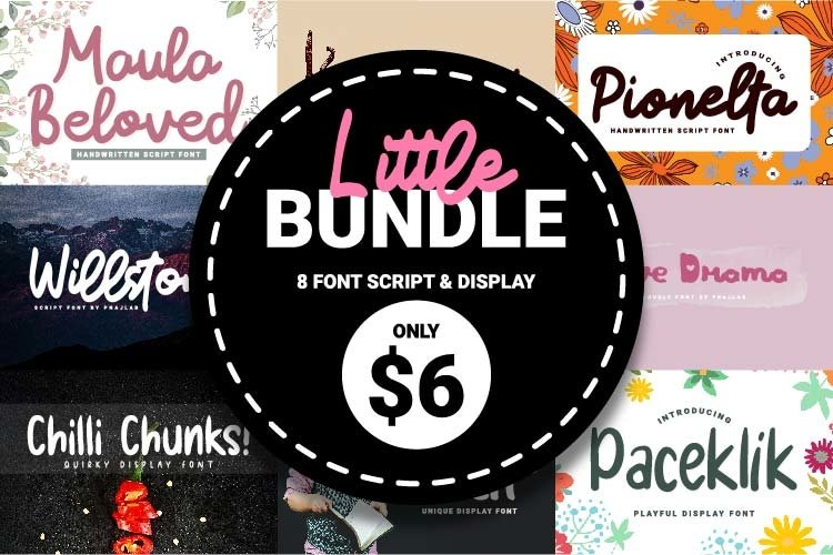 Little Bundle Script & Display Font example image 1