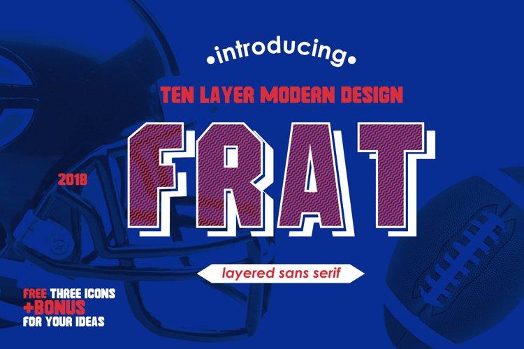 Frat Font - Modern Uppercase Sans Serif example image 1