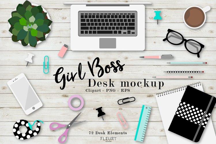 Girl Boss Desk Mockup