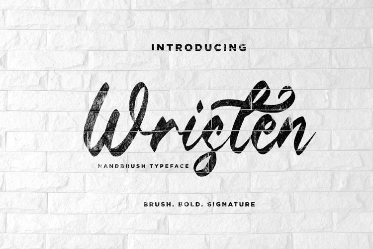 Wristen - Brush Font example image 1
