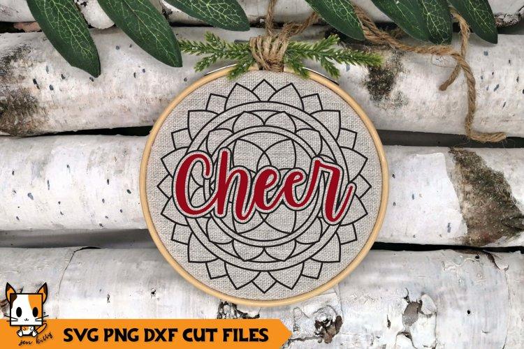 Mandala Christmas Ornament SVG | Cheer example image 1