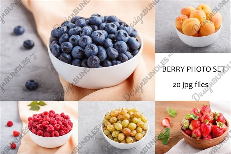 A bundle of 20 high resolution berry photos. example image 1