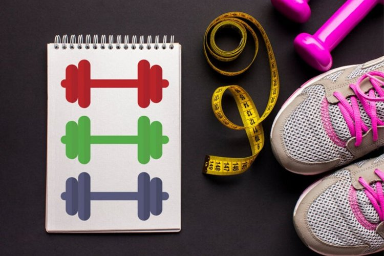 Dumbbell clipart, Workout clipart, Gym clipart, Sport icon
