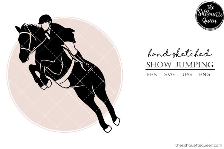 Hand drawn Show Jumping Vector Sketch example image 1