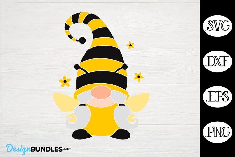 Gnome Bee Girl SVG, Gnome SVG