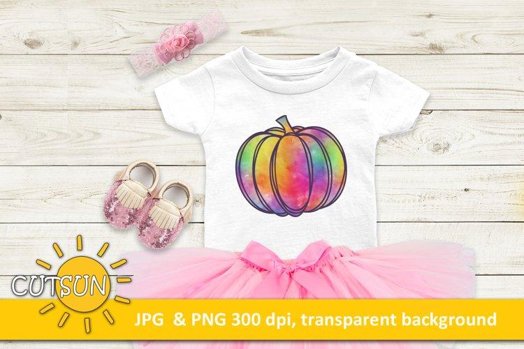 Pumpkin sublimation design | Watercolor pumpkin sublimation example image 1