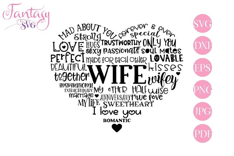Wife Word Art - Svg Cut Files example image 1
