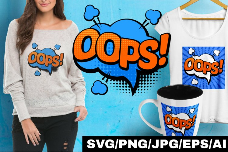 Comic Pop art Speech Bubbles #4 example image 1