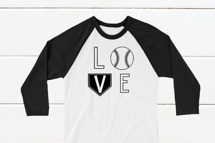 Baseball LOVE Shirt SVG