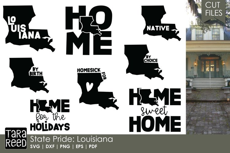 Louisiana SVG and Cut Files for Crafters example image 1