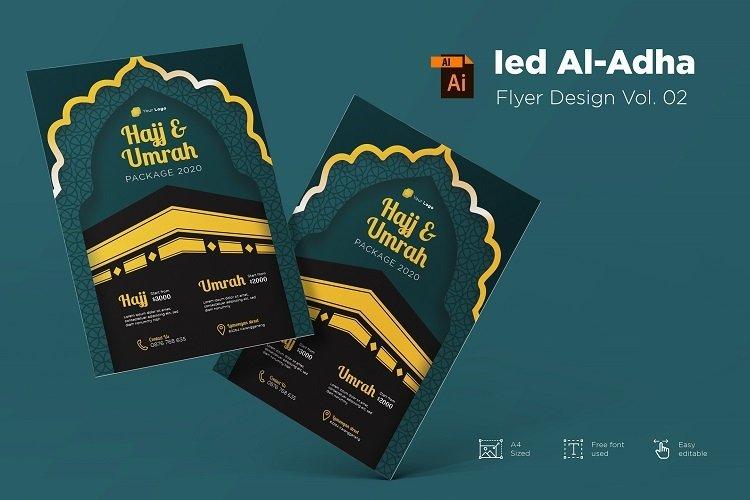 Ied Al-adha Mubarak flyer design Vol. 02