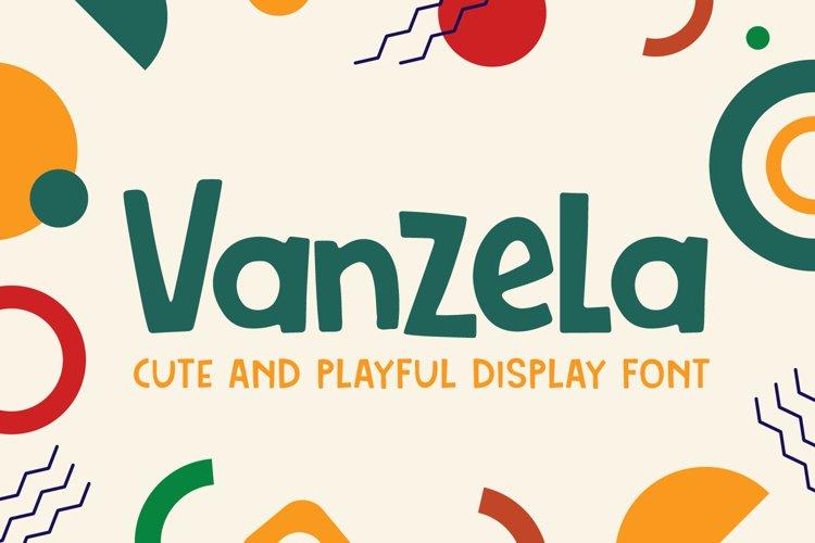 Vanzela - Display Font example image 1