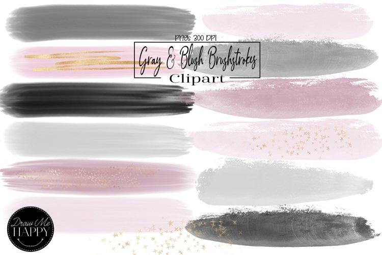 Gray Watercolor Brush Stokes, Pink Watercolor Brush Stokes