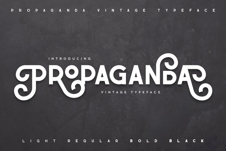 Propaganda - Vintage typeface example image 1