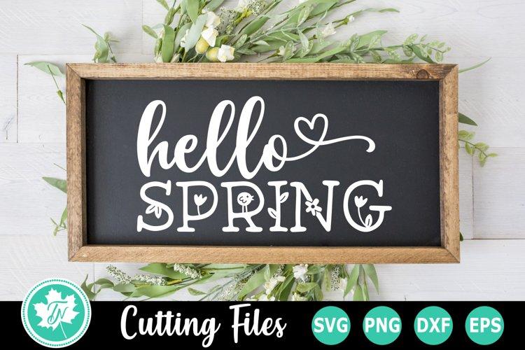 Easter SVG | Hello Spring SVG | Spring Sign SVG example image 1