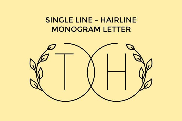 Circleline - Monogram Super Thin Font