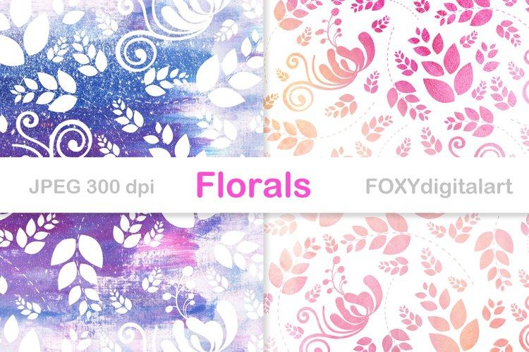Wedding invite digital paper floral background