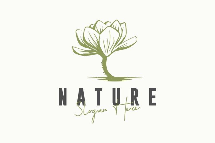 Nature rose vector logo design example image 1