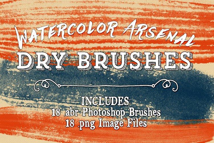 Photoshop Brushes - Watercolor Arsenal Dry Brushes example image 1