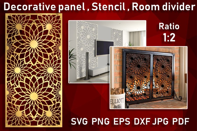 Room divider Decorative panel Wall hanging Stencil