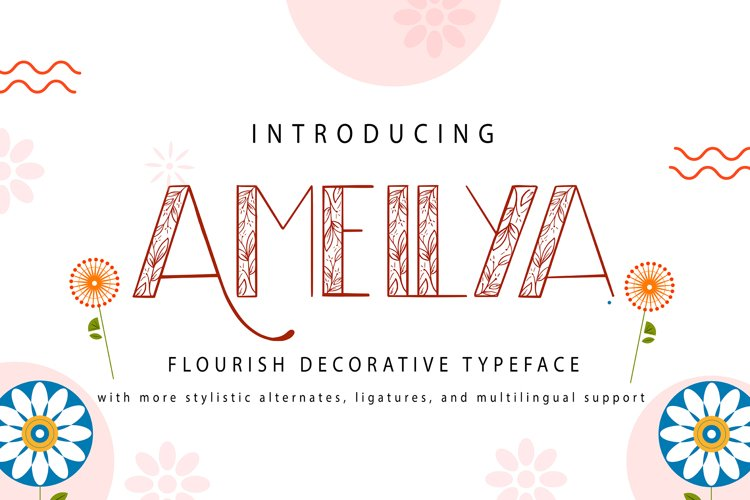 Amellya | Flourish Decorative Typeface example image 1