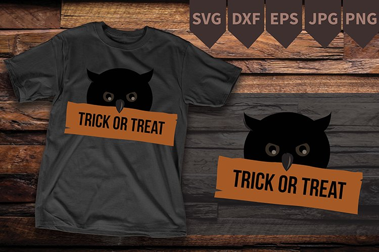 SVG Owl, Owl Silhouette SVG, Silhouette Owl, Halloween example image 1