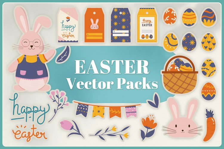 Easter Vector Clipart Packs example image 1