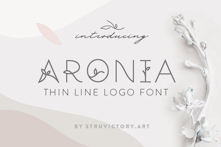 Aronia - Thin Line Logo Font example image 1