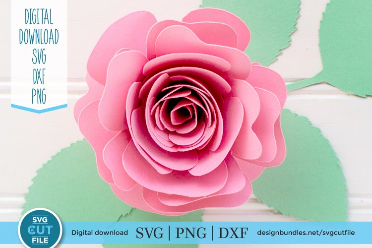 Rolled flower SVG - a rolled rose paper template svg