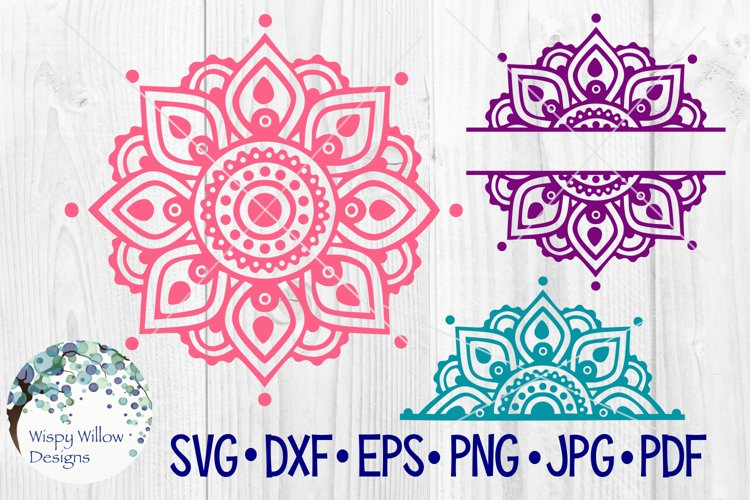 Mandala SVG Bundle | Half Mandala |Personalized Name Mandala example image 1