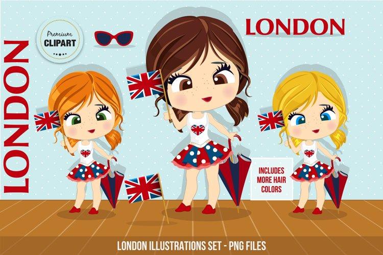 London graphics, London illustrations example image 1